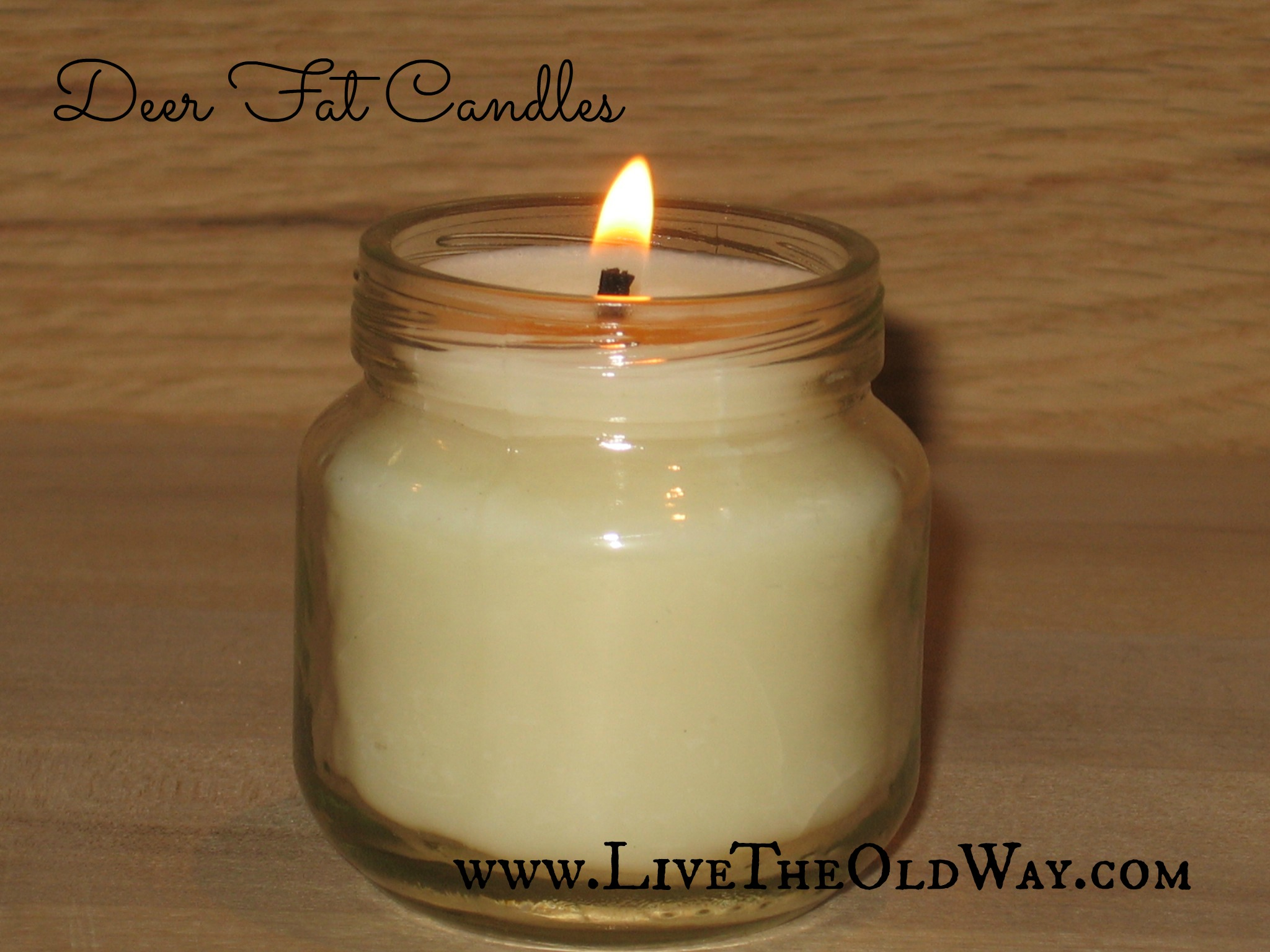 Jar Candles From Deer Fat