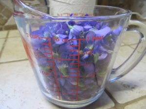 Violet jelly from violet flowers