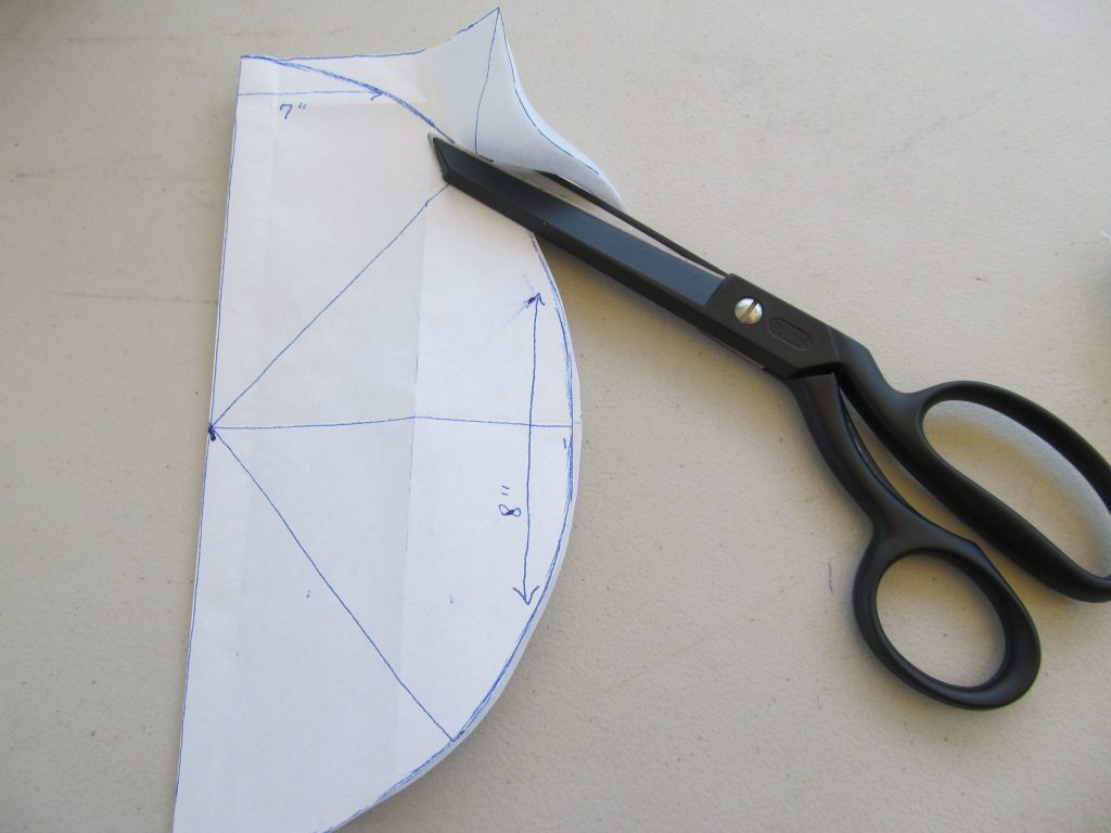 How to cut out a racoon skin cap