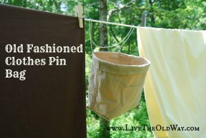 How to make a clothes pin bag