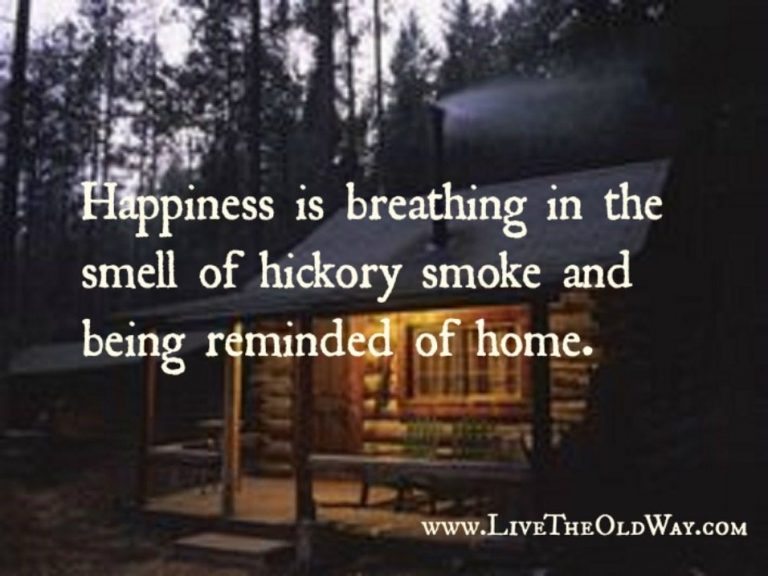 Cabin with Wood Smoke Meme