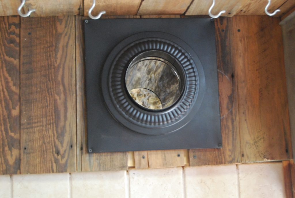 how to replace an electric stove with wood burning