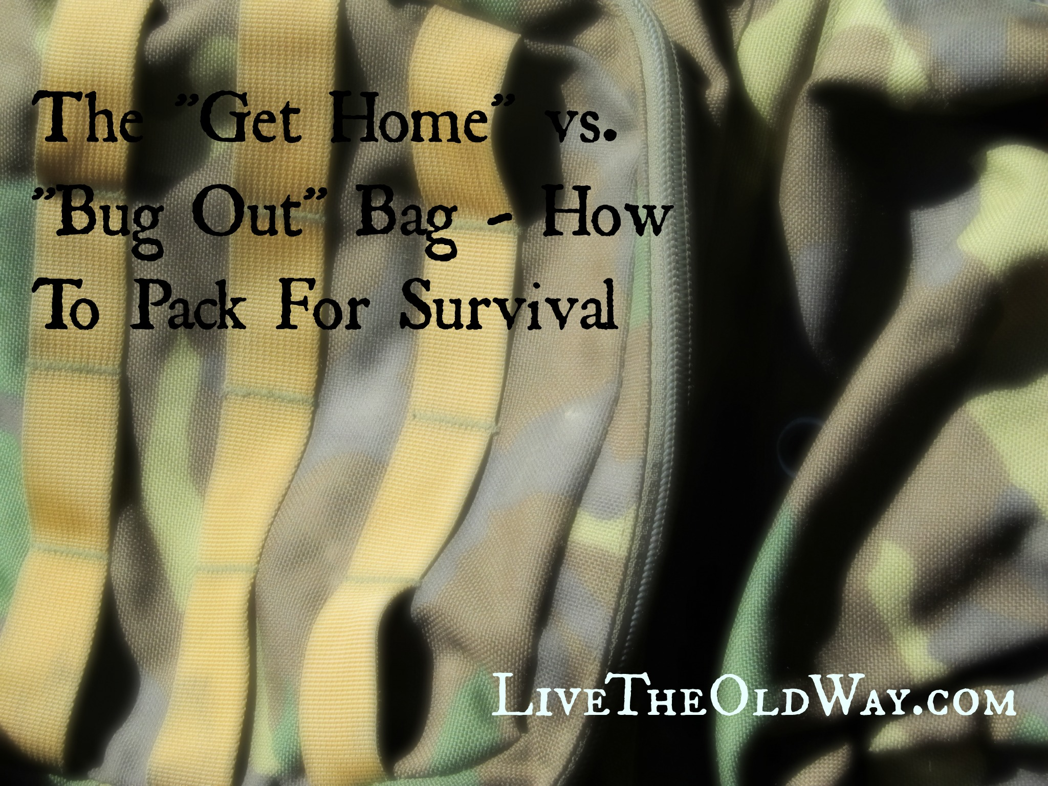 prepping, bug out bags