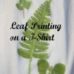 Leaf Printing on a T Shirt
