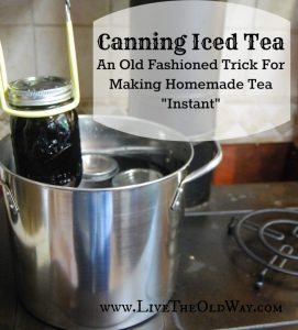 how to can homemade tea