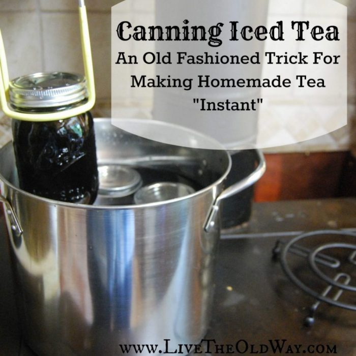 "Canning Iced Tea – An Old Fashioned Trick For Making Homemade Tea ""Instant"""