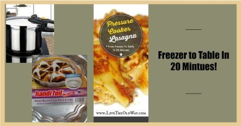 Pressure Cooker Lasagna – From Freezer to Table in 20 Minutes