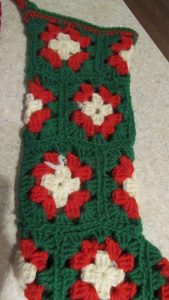 granny square Christmas stocking