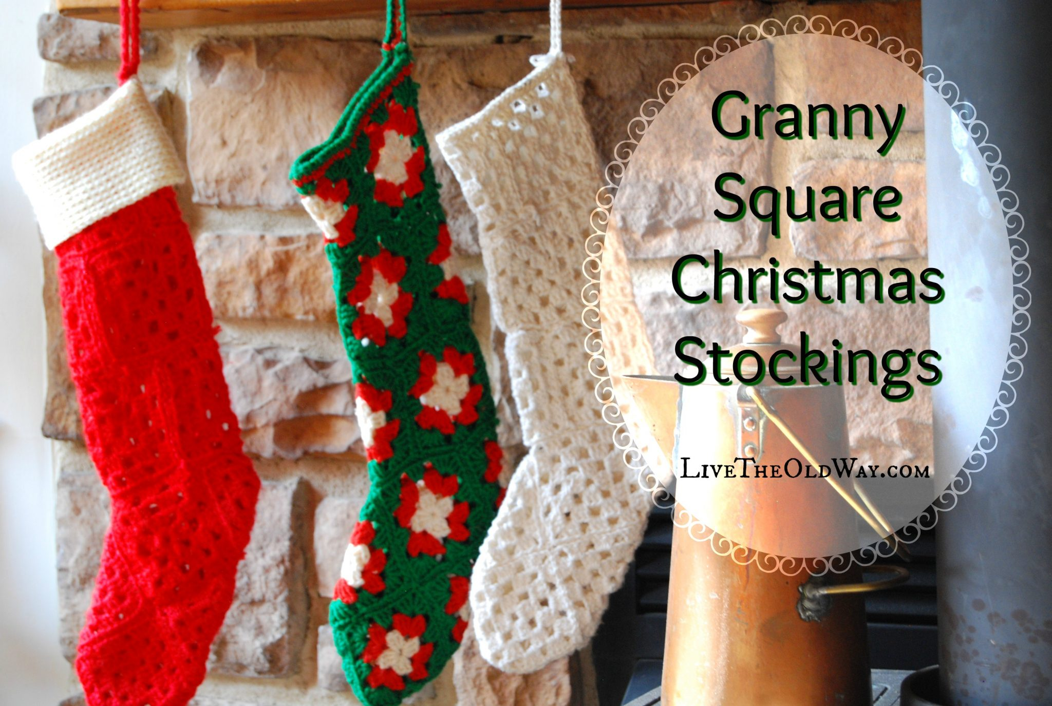 Crochet Christmas Stockings – Live The Old Way