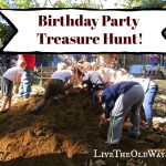 Sand Pile Treasure Hunt Birthday Party!