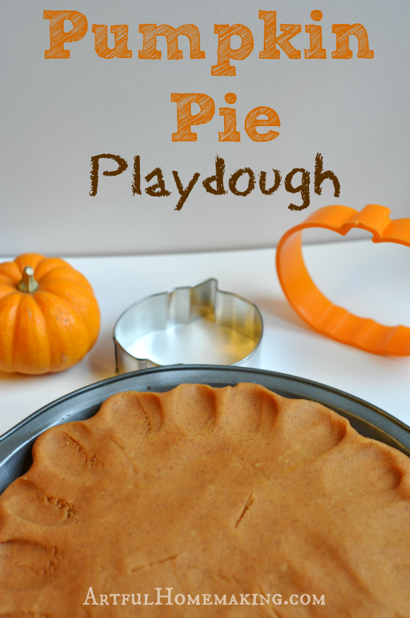 Homestead Blog Hop Feature - Artful Homemaking, Pumpkin Pie Playdough
