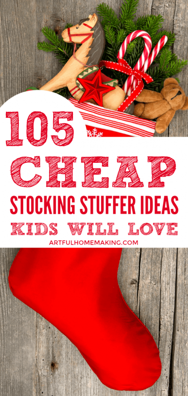 Homestead Blog Hop Feature - 105 Cheap Stocking Stuffer Ideas by Artful Homemaking