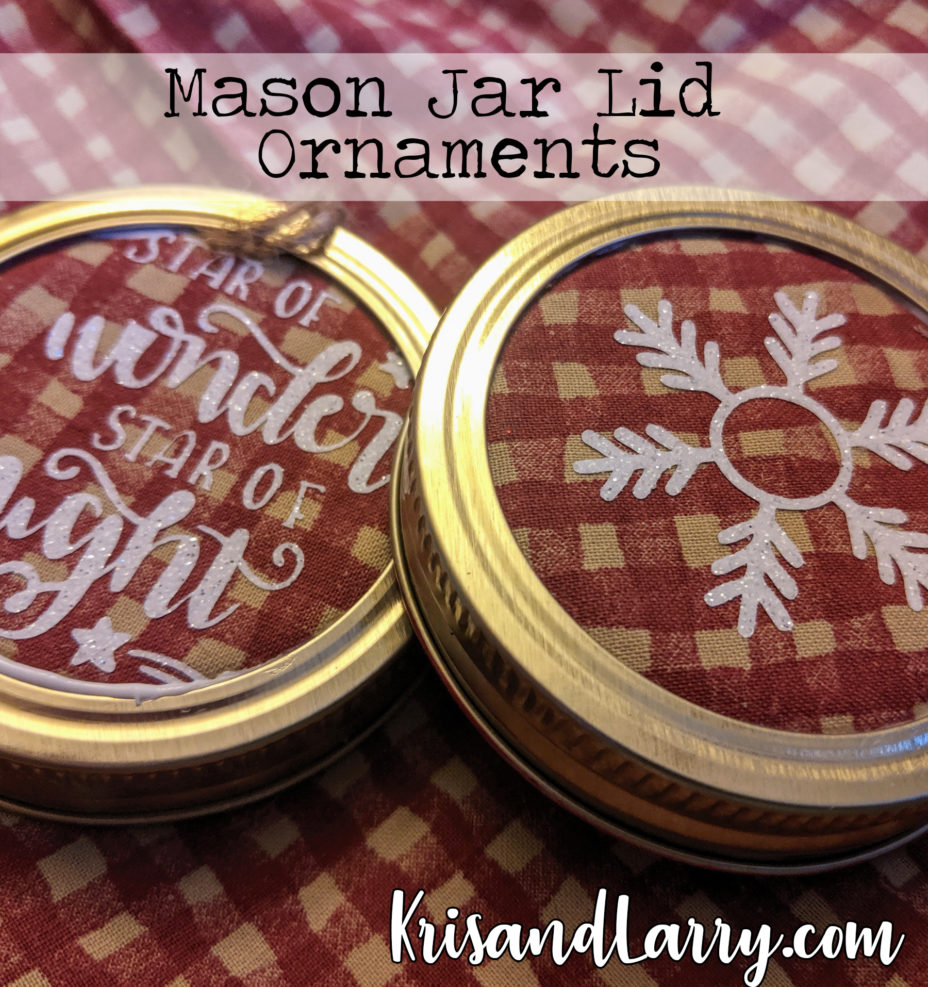 Homestead Blog Hop Feature - Mason Jar Lid Ornaments by KrisandLarry.com